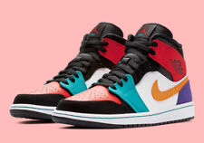 Nike Air Jordan 1 Mid 'What The' Multi-Color Shoes 554724-125 GS MEN SZ 4Y-15