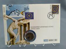 2 Euro Numisbrief Griechenland - Olympische Spiele Athen 2004 Eiamaya