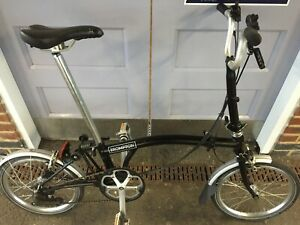 Brompton M6L Black 2016 great condition. Global shipping.
