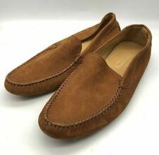 New Mens John Lobb Debranded Tan/Brown Suede Moccasins/Travel Shoes US 7 UK 6