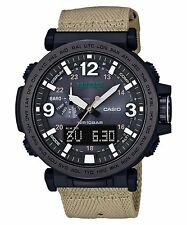 CASIO Pro Trek PRG-600YBE-5 Solar Triple Sensor Ion Plated Cloth & Silicon Band@