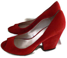 Vince Camuto Women's Berit Red Pump Open Toe High Heel Shoes Size10M