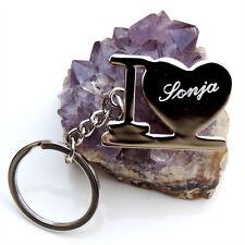 """Schlüsselanhänger """" I love """"  kostenloser Gravur (Ich liebe Dich / I love you)"""