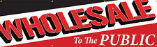 Wholesale to the Public Vinyl Display Banner with Grommets, 3'hx10'w, Full Color