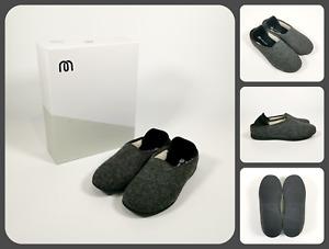 MAHABIS CLASSIC Larvik Dark Grey Slippers & Skien Black Soles   UK4.5-5 EU38