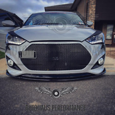 HYUNDAI VELOSTER TURBO NON TURBO FRONT LIP PP MATTE BLACK