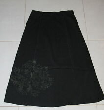 Womens size 10 black a-line skirt made by TARGET - motif on hem