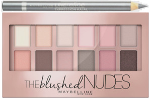 MAYBELLINE The BLUSHED Nudes Eyeshadow Palette + Line Refine 9.6g - NEW Sealed