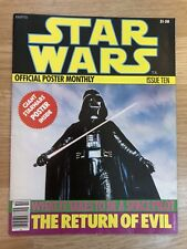 1977 STAR WARS OFFICIAL POSTER MONTHLY #10 Ralph McQuarrie magazine Book Variant