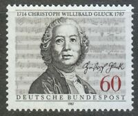 Germany 1987 MNH Mi 1343 Sc 1541  Christoph Willibald Gluck  , composer **