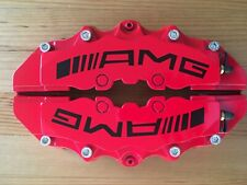 "Red AMG Brake Caliper Covers 9"" for Rear for Universal Car (SILVER SCREWS)"