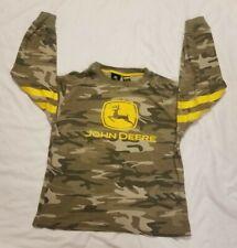 Boys John Deere M 10/12 Camo Camouflage Long Sleeved Shirt Thermal Waffle 10 12