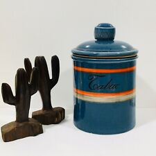 Baldelli Italy Pottery -  Tabac Humidor Mid-Century Canister RARE! Home Decor