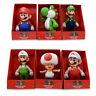 23CM Super Mario Bros Figure Yoshi Toad Pink Princess Luigi Model Collection Toy