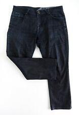 VOLCOM Men's DISSOLVER Jeans Relaxed Straight Fit W36 x L28 Dark Blue Denim