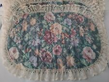 New listing 6 Vintage quilted Floral And Lace Placemats