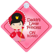 DLP007 Daddy's Little Princess On Board Car Sign New Baby/Child Gift/Present