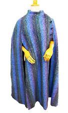 Vintage Jimmy Hourihan Irish CAPE wool purple blue horse blanket stripe green