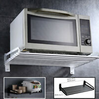 Kitchen Aluminum Wall Hanging Microwave Oven Stand Storage Rack Shelf Bracket
