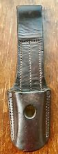 Old leather frog for bayonet Mauser 1891/1909 rifle used by Argentine Army