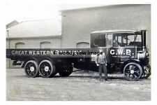 rp17715 - Great Western Railway Foden Steam Lorry - photograph 6x4