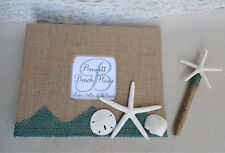 Beach House Guest Book Set- Guestbook Pen Coastal Rental Cottage Sign In Home
