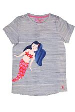 BNWT JOULES JUNIOR MAGGIE GIRLS MERMAID STRIPE APPLIQUE T-SHIRT FREE P&P 9-10