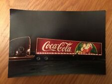 Photo Christmas Coca Cola Truck Trailor Trailer Santa Night Light