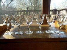 """set (6) Port Wine Glasses 4-1/2"""" Lead Crystal Signed Waterford Sheila Arch panel"""