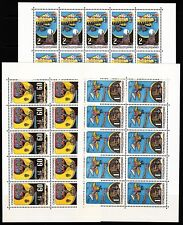 Czechoslovakia Sc C72-4 NH Minisheets of 1968 - Expo - Space