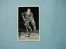 1960`S MOLSON`S NHL HOCKEY PHOTO JEAN BELIVEAU FACSIMILE AUTOGRAPH AUTO SHARP!!