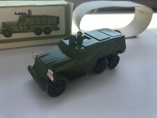 Vintage Soviet Armored personnel carrier Military WW2 Metal Toy in Box