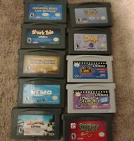 Nintendo Gameboy Advance Game & Video Lot Of 10 GBA KND Nemo Shares tale pirates