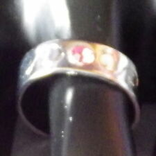 New Toe Ring Stainless Steel Pink Crystal Engraved Open Adjustable for Women