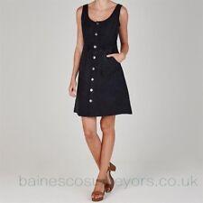 FIRETRAP SUEDE DRESS LADIES Sleeveless Buttons Fastening Size 12 Medium C653-3