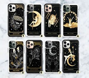 Tarot Cards Cups Wands Swords Rubber Case Cover For iPhone 6 7 8 SE X XR 11 12