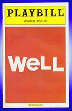 Playbill + Well + Jayne Houdyshell, Lisa Kron, Joel Van Liew, Welker White