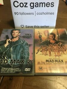 Mad Max 2 And 3 Beyond Thunderdome Two Dvd Set Australian Releases Mel Gibson