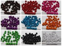 """500 Round Wood Beads 8mm(0.32"""") Wooden Beads Color for Choice Jewelry Craft DIY"""