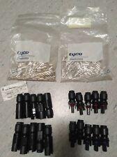 Steckverbinder-SET plus & minus paarweise 4mm² Buchsen-Stecker Tyco Electronics