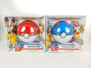 2pk New Pokemon XY Puzzle Tin Complete 100 Pieces Great & Pokeball