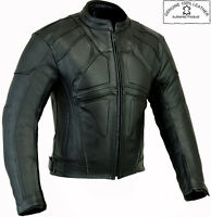 DARK RIDER STYLE HIGH QUALITY MENS CE MOTORBIKE MOTORCYCLE WINTER LEATHER JACKET
