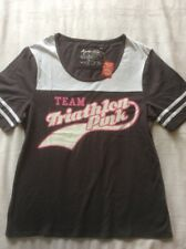 Apres Velo.Womans after cycle clothing. t shirt. size Medium. grey/pink.NEW