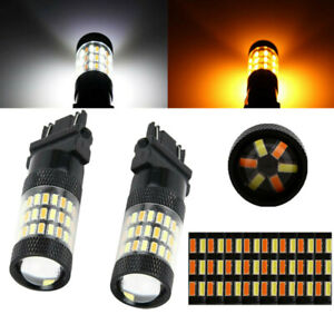 White/Amber Switchback LED Turn Signal Light Bulbs For Chevy Silverado 1500 2500