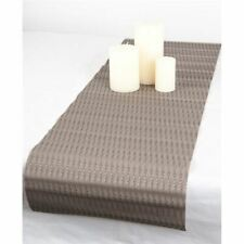 Ogilvies Designs - Woven Living Etch Table Runner 30x120cm Brown Owl