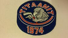 Kotkan Titaanit 1974 vintage logo Hockey Sport patch icehockey ice