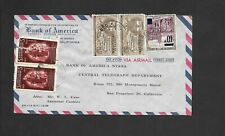 1940/50s Colombian Airmail Cover-to New York, Usa-Overprint-Bank of America (2)