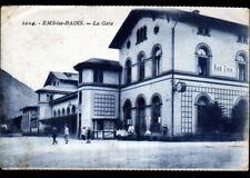 EMS-les-BAINS (ALLEMAGNE) MARCHAND de GLACES à la GARE ,Franchise Militaire 1925