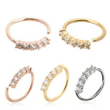 Chic Crystal Nose Ring Hoop Ear Navel Lip Cartilage Earring Pierced Jewellry#fac