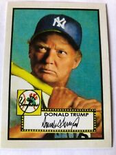 DONALD TRUMP  Baseball Card Double Sided With Glock Pic